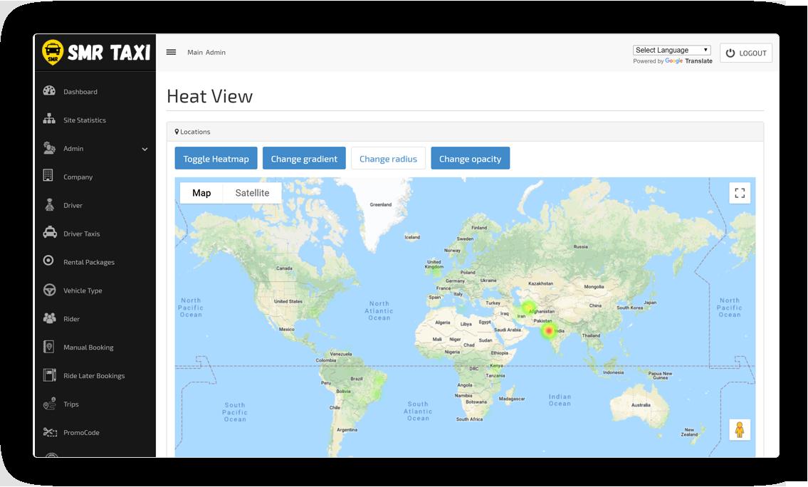 Heat Map View Screen