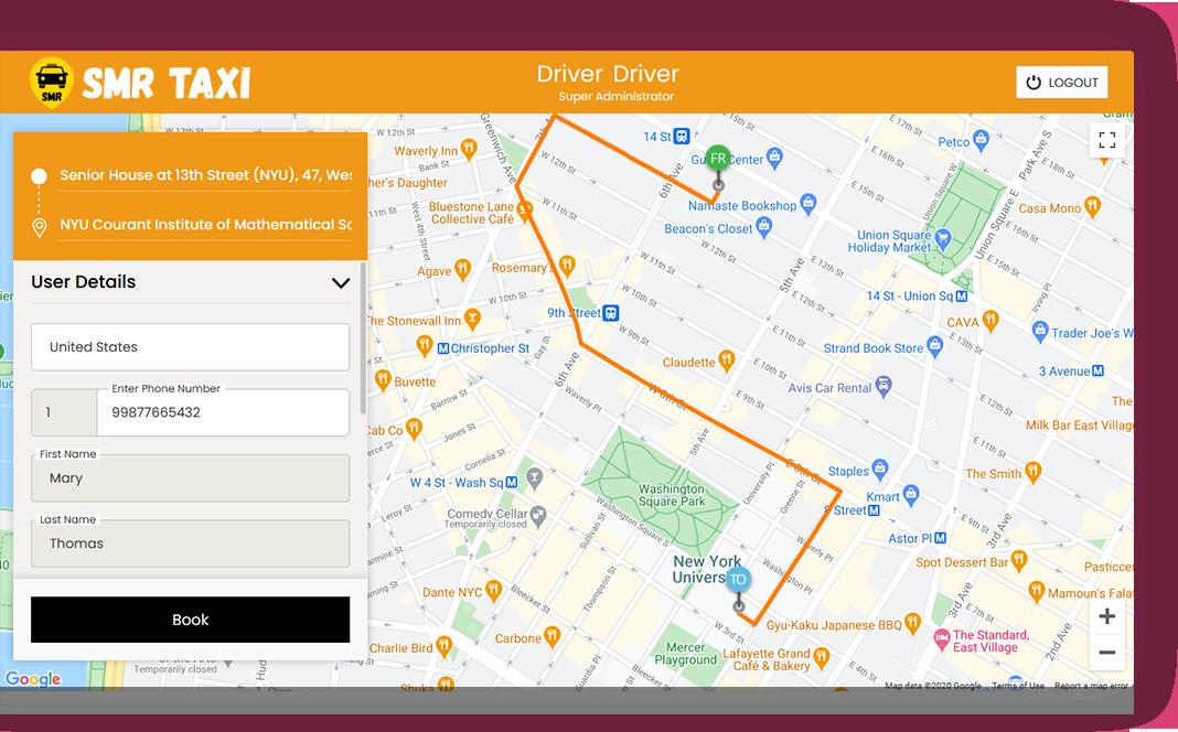 Manual Taxi Dispatch Screen