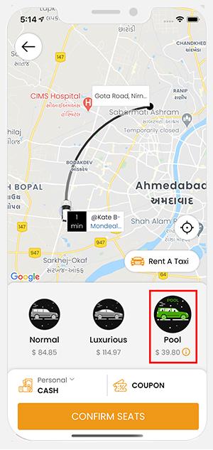 carpooling feature