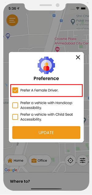 gender based rides preference