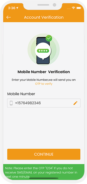 Mobile number verification