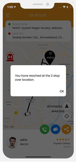 User app menu screen