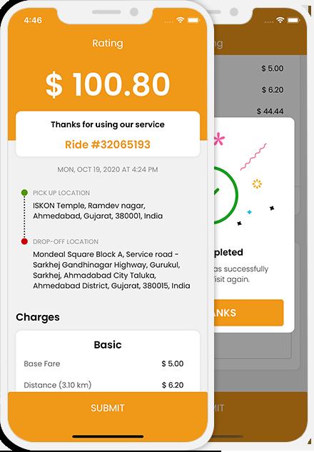 rider-invoice detail